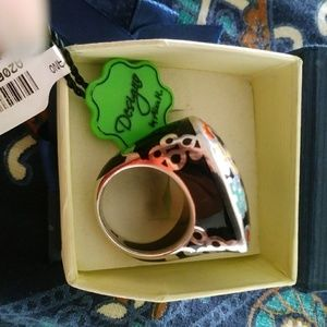 Murano, Silver ring. Size 8